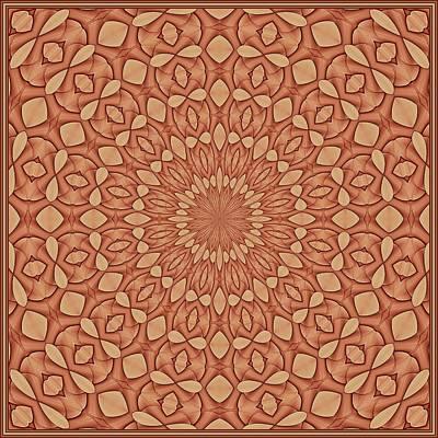 Digital Art - Floral Visage-6 K12 Tile by Doug Morgan
