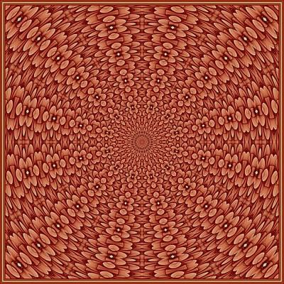 Digital Art - Floral Visage-8 K12 Tile by Doug Morgan