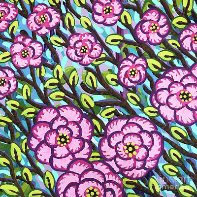 Painting - Floral Whimsy 3 by Amy E Fraser