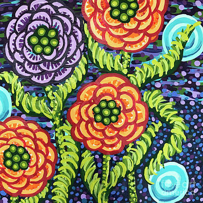 Painting - Floral Whimsy 5 by Amy E Fraser
