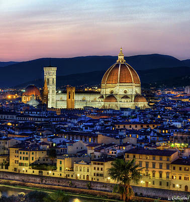 Photograph - Florence At Dusk Triptych 3 - Duomo by Weston Westmoreland