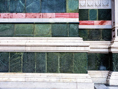 Photograph - Florence Cathedral Marble Panels by John Rizzuto