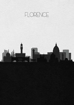 Digital Art - Florence Cityscape Art by Inspirowl Design