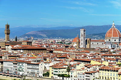 Photograph - Florence Cityscape by John Rizzuto