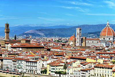 Photograph - Florence Cityscape View by John Rizzuto