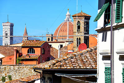 Photograph - Florence Domes And Towers by John Rizzuto