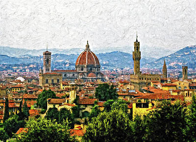 Mountain Royalty-Free and Rights-Managed Images - Florence impasto by Steve Harrington