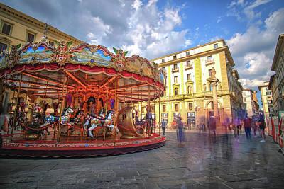 Photograph - Florence Italy Carousel Piatza De La Republica by Matthew Pace