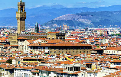 Photograph - Florence Palazzo Vecchio In The Distance by John Rizzuto