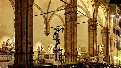 Photograph - Florence - Perseus At The Loggia - Vintage by Weston Westmoreland