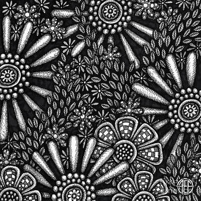 Drawing - Floriated Ink 7 by Amy E Fraser