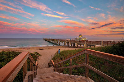 Photograph - Florida Juno Pier by Juergen Roth