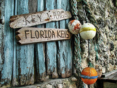Photograph - Florida Keys Card by Louise Lindsay