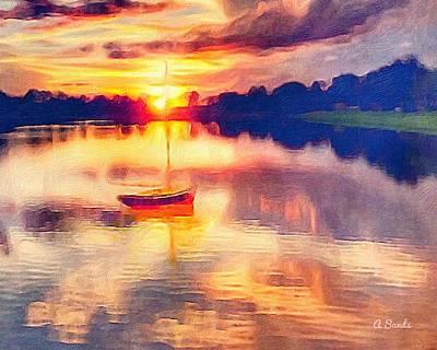 Digital Art - Florida Sunset by Anne Sands