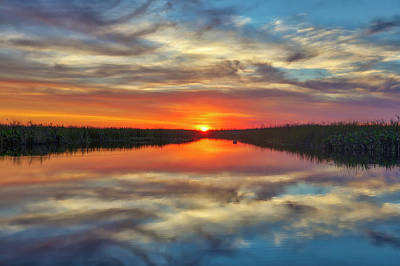 Photograph - Florida Sunset At Arthur R. Marshall Loxahatchee National Wildlife Refuge by Juergen Roth