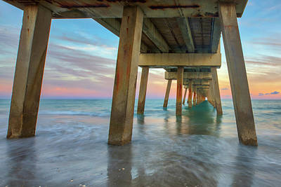 Old Masters - Florida Sunset at Juno Beach Pier by Juergen Roth