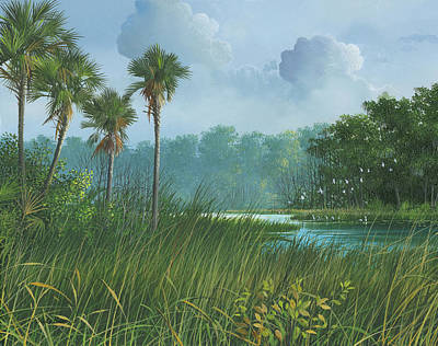 Painting - Florida's Back Country by Mike Brown