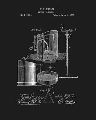 Drawing - Flour Sifter Patent by Dan Sproul