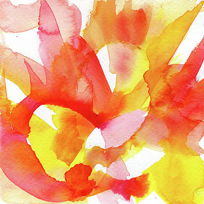 Music Paintings - Flourish - Abstract Watercolor Painting by Susan Porter