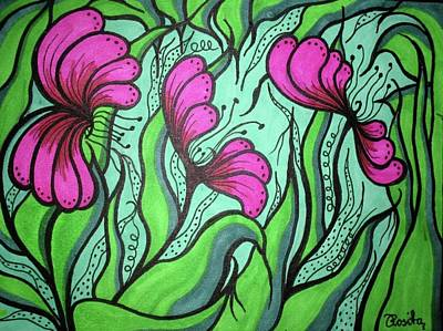 Mixed Media - Flourishing by Rosita Larsson