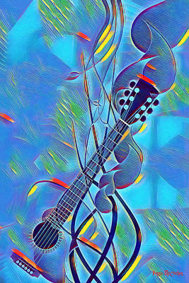 Digital Art - Flow Of Music by Pennie McCracken