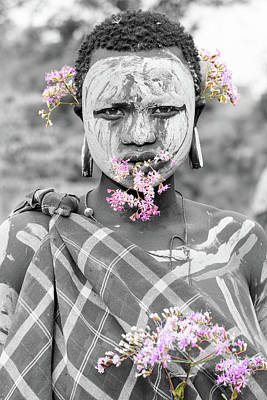 Photograph - Flowe Power Suri Girl  by Mache Del Campo