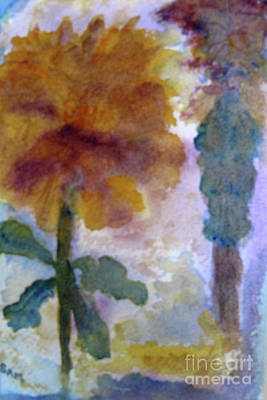 Painting - Flower And Palm by Sandy McIntire