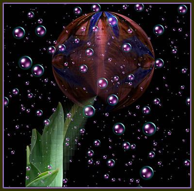 Surrealism Digital Art - Flower Ball by Constance Lowery