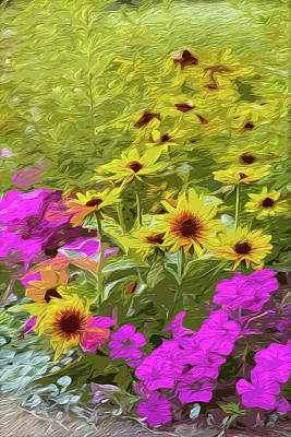 Digital Art - Flower Bed by Garden Gate magazine