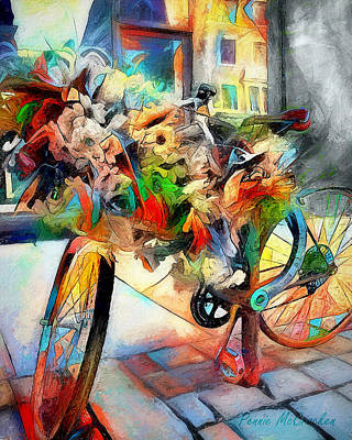 Digital Art - Flower Bike by Pennie  McCracken
