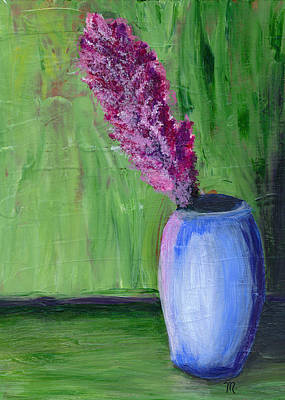 Painting - Flower-blue Vase by Mary Elizabeth Thompson
