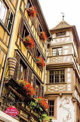 Photograph - Flower Boxes Strasbourg by Paul Croll