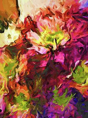Painting - Flower Colour Love 2 by Jackie VanO