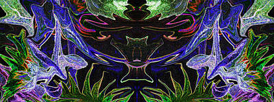 Photograph - Flower Creature - L2b5 by Paul W Faust - Impressions of Light
