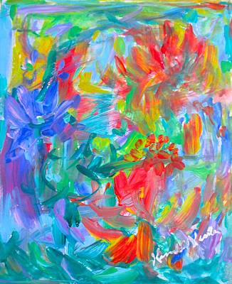 Painting - Flower Twirl Stage One by Kendall Kessler