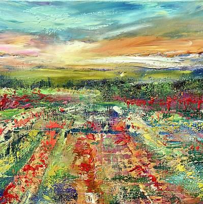 Painting - Flower Field  by Julia S Powell