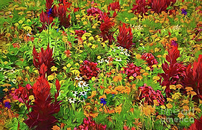 Painting - Flower Garden A18-33 by Ray Shrewsberry