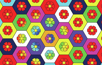 Digital Art - Flower Hyves by Rosa Dorenbos