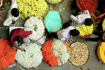 Flower Photograph - Flower Market by Photo By Jogesh S