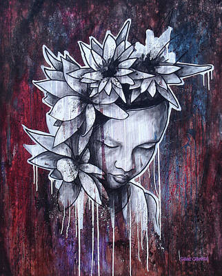 Mixed Media - Flower Of Beauty  by Shane Grammer