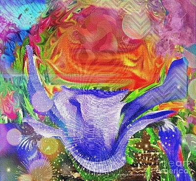 Digital Art - Flower Power by Kathie Chicoine
