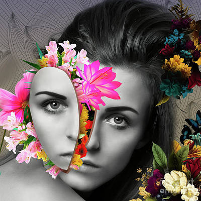 Mixed Media - Flower Power Part One  by Erik Brede
