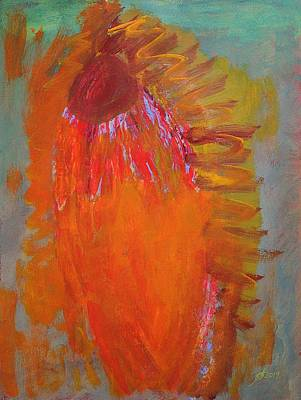 Painting - Flower Spirit Original Painting by Sol Luckman