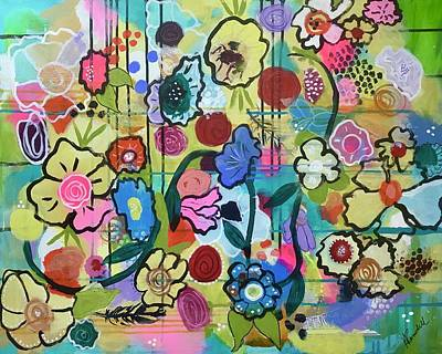 Wall Art - Mixed Media - Flowerburst by Kelly Ramsdell