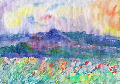 Painting - Flowering Meadow by Irina Dobrotsvet