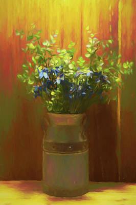 Digital Art - Flowering Milk Jug by Pamela Walton