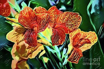 Painting - Flowers A18-128 by Ray Shrewsberry