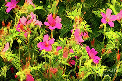 Painting - Flowers A18-160 by Ray Shrewsberry