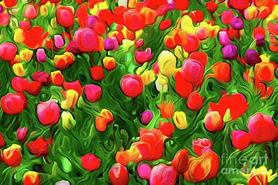 Painting - Flowers A18-161 by Ray Shrewsberry