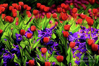 Painting - Flowers A18-163 by Ray Shrewsberry